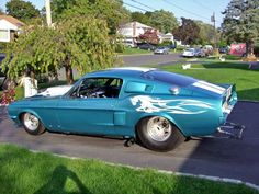 1967 Ford Mustang Pro Street Fastback for sale in Deer Park, New York Ford Mustang 1967, Blue Mustang, Ford Mustang Fastback, Ford Mustangs, 1967 Shelby Gt500, Custom Classic Cars, Cool Old Cars, Ford Maverick, Custom Hot Wheels