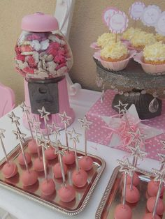 Hostess with the Mostess® - Fairy themed baby shower - star wands as the cake pop sticks. or food skewers Fairy Birthday Party, Girl Birthday, Birthday Parties, Birthday Ideas, Birthday Bash, Shower Party, Baby Shower Parties, Baby Shower Themes, Shower Ideas