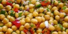 Chickpea salad - I've made this a few times and have been asked for the recipe! Everyone whose tried it has loved it and has experimented with it to make it something they love!