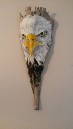 Painted Palm Frond.. The Eagle.. Wall art by PaintedPalmsbyPenn, go to my etsy store.