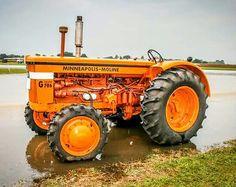Minneapolis-Moline G-706 FWD Minneapolis Moline, Old Tractors, Rubber Tires, Farming, Motors, Engineering, Antique, Board, Vehicles