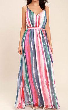 Jack by BB Dakota Joyner White Print Maxi Dress via @bestmaxidress