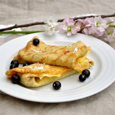 Crepes with PB & Jam by loveumadly #Crepes #PB #Jam
