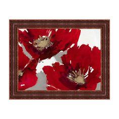 Tangletown Fine Art Red Poppy Forest II by Natasha Barnes Framed Graphic Art Framed Canvas Prints, Framed Wall Art, Wall Art Decor, Wall Art Prints, Fine Art Prints, Painting Frames, Painting Prints, Paintings, Painted Wine Bottles