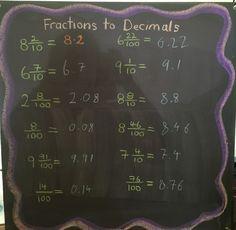 Grade fractions to decimals frações fifth grade math, Middle School Science, Elementary Science, Elementary Education, Maths Algebra, Math Fractions, Education Quotes For Teachers, Quotes For Students, Fifth Grade Math, Fourth Grade