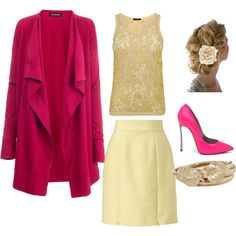 Cream & Rose, created by cdsetliff.polyvore.com