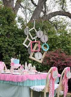 Mad Hatters Tea Party Alice In Wonderland Inspiration Kids Party