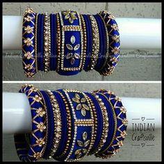 Silk Thread Bangles Indian Bangle Set of 30 for both hands Silk Thread Earrings Designs, Silk Thread Bangles Design, Silk Bangles, Bridal Bangles, Thread Jewellery, Wedding Jewelry, Indian Bangles, Silver Jewellery, Indian Jewelry