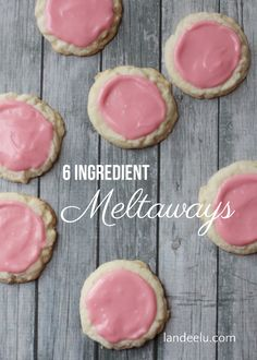 Meltaway Cookies Recipe | These cookies only need six ingredients and I bet you have them all on hand! No EGGS! Awesome dessert recipe!