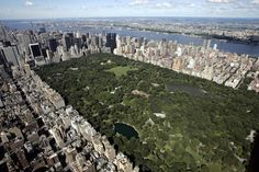 Central Park vue Helicoptere