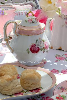 Aiken House & Gardens: Romantic Pink Balcony Tea
