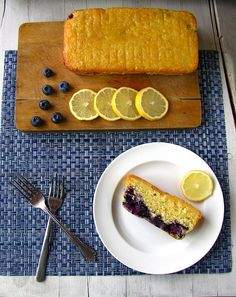 Sunshine Lemon Blueberry Bread from Miss in the Kitchen