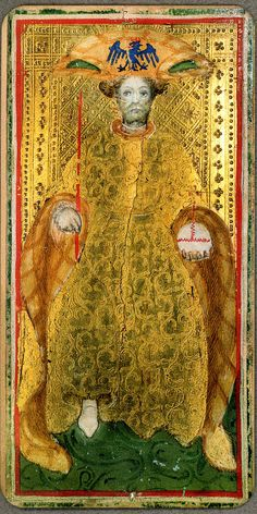 Tarocchi Visconti Brambilla Brera IV Emperor Tarot Learning, Major Arcana, Tarot Decks, 15th Century, Deck Of Cards, Tarot Cards, Emperor, My Favorite Things, History