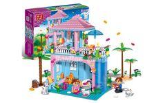 BANBAO Plastic Assembled Block Flower Bath Building Blocks Girls Toy Block Edge Design, Toys For Girls, Baby Toys, Gifts For Kids, Toy Block, Sweet Home, Plastic, Bath, Bricks