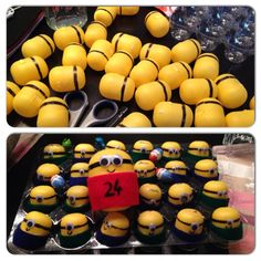 #Minions #Advent Calendar #DIY - The boys loved it :) (simply use the Kinder eggs' plastic shells)