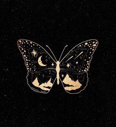 butterfly aesthetic on Instagr Butterfly Wallpaper, Iphone Background Wallpaper, Aesthetic Iphone Wallpaper, Aesthetic Wallpapers, Bild Tattoos, Moon Art, Future Tattoos, Aesthetic Art, Cute Wallpapers