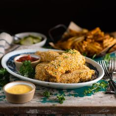 Crispy and flavorful, these baked chicken tenders are an easy, family-friendly dinner! Just coat the strips in a combination of bread crumbs and Corn Flakes, and then pop them in the oven for about 15 minutes. Served with waffle fries, pickles, and your kids' favorite dipping sauces, the baked breaded chicken tenders make a quick and delicious weeknight meal! Odds are good that my kids will order chicken fingers whenever we go out to a restaurant. While I sometimes fry chicken tenders or…