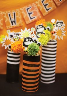 halloween centerpieces for kids | Monster Mash {Kids Halloween Party Theme} // Hostess with the Mostess ...
