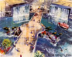Tomorrowland concept for Walt Disney World, pre 1970.