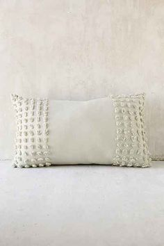Plum & Bow Nora Tufted Chenille Bolster Pillow - Urban Outfitters