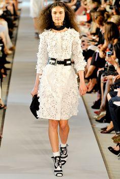 Oscar de la Renta Spring 2012 Ready-to-Wear Fashion Show - Jacquelyn Jablonski