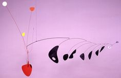 """Alexander Calder. Lobster Trap and Fish Tail, 1937-1938. Kinetic Sculpture. He is known as the """"originator of the mobile""""."""