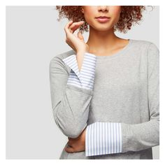Woven Cuff Tee - A layering piece with coordinating cardi.