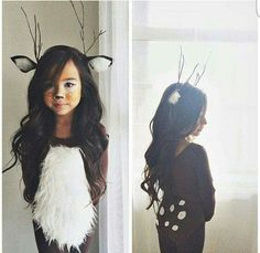 Adorable kids fawn costume