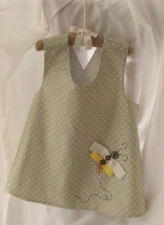Best 12 Linen dress for little beauty – Soft Couture – SkillOfKing. Baby Dress Design, Baby Girl Dress Patterns, Frock Design, Little Dresses, Little Girl Dresses, Baby Girl Fashion, Kids Fashion, Baby Frocks Designs, Baby Kind