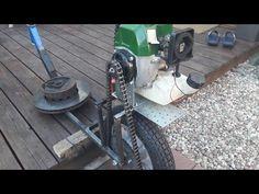 How to make gas skateboard scooter Hulajnoga z silnikiem od kosy spalinowej DEMON Pierwsze testy 가솔린 Farm Hacks, Gas Scooter, Inventions, Skateboard, Vacuums, Bike, How To Make, Homemade, Amazing