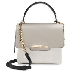 Jennifer Lopez Leticia Mini Crossbody Bag (1.760 RUB) ❤ liked on Polyvore featuring bags, handbags, shoulder bags, white oth, hand bags, white handbags, white purse, cross-body handbag and shoulder strap bags