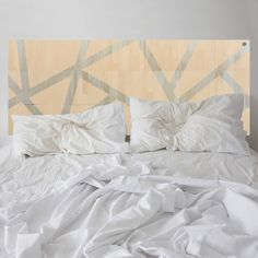 Apricot frosting. Be inspired by the thoughtfully designed MUSE headboard. Strips of natural wood are revealed between coloured sections of Apricot.