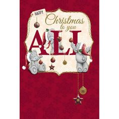 To All Me to You Bear Christmas Card £3.59