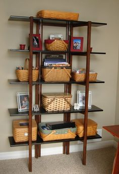 Organizing in the living room #longaberger #baskets