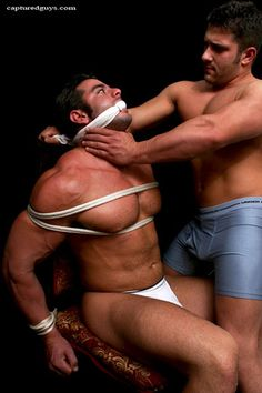 Men tied in bondage