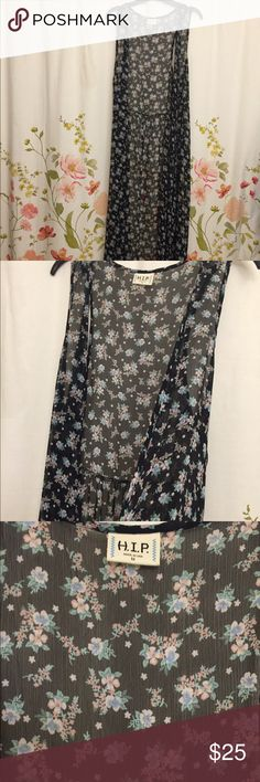 Beautiful Floral Kimono This pull over is floor length (depending on height). It's sheer with a beautiful floral pattern. This pairs great with dresses, tops and shorts. Was only worn a couple times. Free People Sweaters Cardigans
