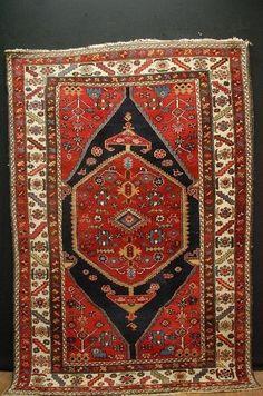 antique persian malayer handrug Iran ca 200x140cm tapis tappeto