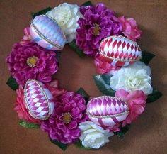 hobby e passioni racchiusi nel mio cassetto: Centro tavola con uova di Pasqua in patchwork senz...