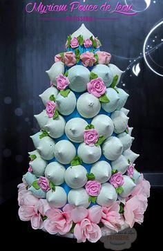 Torre de merengues para tus mesas dulces