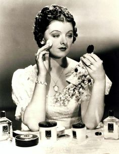 Myrna Loy at her Vanity Table                                                                                                                                                                                 More