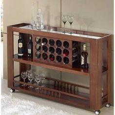 Resultado de imagem para aparador com divisoria para vinho Mini Bars, Diy Home Bar, Bars For Home, Bandeja Sofa, Wood Bar Cabinet, Bar Sala, Alcohol Dispenser, Sun House, Living Room Partition