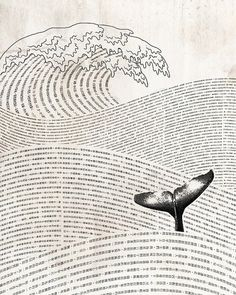 A whale of a tale. // fun with weaving copy into design.