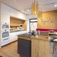Mountain Designs, Interior And Exterior, Kitchen Island, Table, House, Furniture, Salzburg, Ikea Faktum, Home Decor