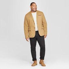 Men's Tall Standard Fit Twill Blazer – Goodfellow & Co Dapper Brown XLT – Man Fashion 2020 Big And Tall Style, Big And Tall Outfits, Mens Big And Tall, Big & Tall, Business Casual Men, Business Fashion, Men Casual, Big Men Fashion, Fashion 2020