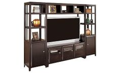 Plenty of space for the family photos and the game night games! Naomi Entertainment Center