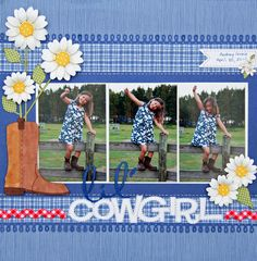 flowers out of the boot, how cute is that! Lil' Cowgirl - Scrapbook.com
