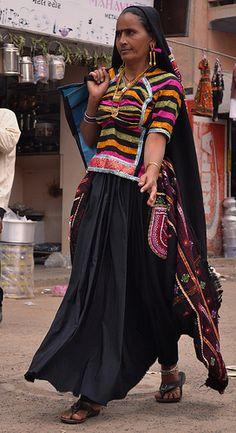 Rabari Caste Woman . Bhuj/ choli detailing