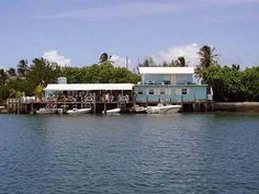 Harbour's Edge restaurant in Hope Town. I would really love some Chicken in Da Bag and Grouper Nachua right now.