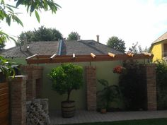 www.kerthazlakas.hu www.facebook.com/kordaiepito Pergola, Outdoor Structures, Facebook, Outdoor Decor, Home Decor, Outdoor Pergola, Interior Design, Home Interiors, Arbors