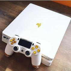 Replacement front top Housing white gold silver Shell Case Cover for Slim Playstation 4 Slim Game Console Playstation 4 Console, Playstation Games, Xbox, Just Dance, Ps4 Controller Custom, Mundo Dos Games, Best Gaming Wallpapers, Naruto E Sasuke, Video Game Rooms